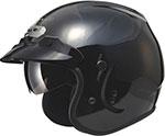 GMAX GM32 Open-Face Helmet W/Sun Shield (Black)