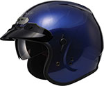 GMAX GM32 Open-Face Helmet W/Sun Shield (Blue)