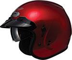 GMAX GM32 Open-Face Helmet W/Sun Shield (Candy Red)