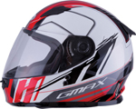 GMAX GM-49Y ROGUE Kids Full-Face Street Motorcycle Helmet (Gloss White/Red)