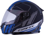 GMAX GM-49Y ROGUE Kids Full-Face Street Motorcycle Helmet (Matte Black/Blue)