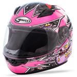 GMAX GM49Y Kids ALIEN Full-Face Motorcycle Helmet (Pink/Purple)