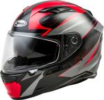 GMAX FF-98 APEX Full-Face Street Motorcycle Helmet w/Drop-Down Sun Visor (Gloss Black/Red)