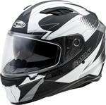 GMAX FF-98 APEX Full-Face Street Motorcycle Helmet w/Drop-Down Sun Visor (Matte Black/White)