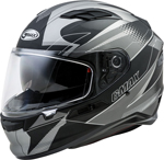 GMAX FF-98 APEX Full-Face Street Motorcycle Helmet w/Drop-Down Sun Visor (Matte Black/Dark Silver)