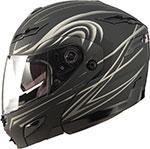 GMAX GM54S DERK Modular Helmet (Flat Black/Silver)