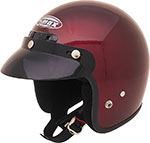 GMAX GM2 Open-Face Youth/Kids Helmet (Wine Red)