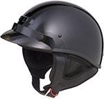 GMAX GM35 Full Dress Motorcycle Half Helmet (Black)