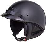 GMAX GM35 Full Dress Motorcycle Half Helmet (Flat Black)