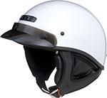 GMAX GM35 Full Dress Motorcycle Half Helmet (Pearl White)