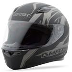 GMAX FF49 Full Face Street Helmet Derk (Flat Black/Silver)