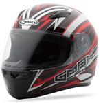 GMAX FF49 Full Face Street Helmet Warp (White/Red)