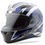 GMAX FF49 Full Face Street Helmet Warp (White/Blue)