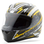 GMAX FF49 Full Face Street Helmet Warp (White/Yellow)