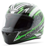 GMAX FF49 Full Face Street Helmet Warp (White/Hi-Vis Green)