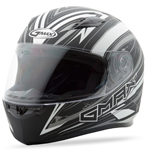 GMAX FF49 Full Face Street Helmet Warp (Flat Black/Silver)