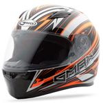 GMAX FF49 Full Face Street Helmet Warp (White/Hi-Vis Orange)
