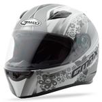 GMAX FF49 Full Face Street Helmet Elegance (White/Silver)