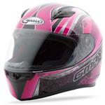 GMAX FF49 Full Face Street Helmet Elegance (Black/Pink)