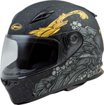 GMAX FF-49 YARROW Full-Face Street Motorcycle Helmet (Matte Black/Gold)