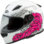 GMAX FF-49 YARROW Full-Face Street Motorcycle Helmet (Gloss White/Pink)