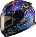 GMAX GM49Y Kids ALIEN Snow Helmet (Blue)