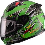 GMAX GM49Y Kids ALIEN Snow Helmet (Green)