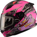 GMAX GM49Y Kids ALIEN Snow Helmet (Pink/Purple)