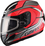 GMAX GM44S Modular Snow Sport Helmet Glacier (Red/Silver/Black)