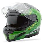 GMAX GM54S Modular Snow Sport Helmet Terrain (Black/Green)