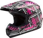 GMAX MX-46 Pink Ribbon Riders MX/Motocross/Off-Road Motorcycle Helmet (Gloss Black/Pink)