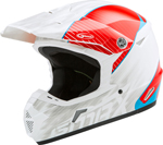 GMAX MX-46Y COLFAX Kids MX/Motocross/Off-Road Motorcycle Helmet (Gloss White/Red/Blue)