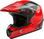 GMAX MX-46 COLFAX MX/Motocross/Off-Road Motorcycle Helmet (Gloss Red/Black)