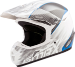 GMAX MX-46Y COLFAX Kids MX/Motocross/Off-Road Motorcycle Helmet (Gloss White/Blue)