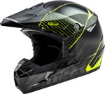GMAX MX-46Y COLFAX Kids MX/Motocross/Off-Road Motorcycle Helmet (Gloss Black/Hi-Vis Yellow)