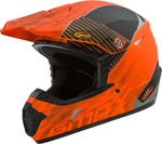 GMAX MX-46Y COLFAX Kids MX/Motocross/Off-Road Motorcycle Helmet (Matte Orange/Black)