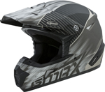GMAX MX-46Y COLFAX Kids MX/Motocross/Off-Road Motorcycle Helmet (Matte Black/Silver)
