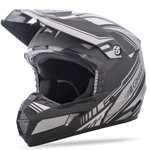 GMAX MX46 Kids UNCLE Offroad Motorcycle Helmet (Flat Black/Black/Silver)