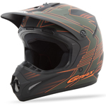 GMAX GM46.2 Kids MX Motocross Offroad Helmet Race (Flat Green/Orange)