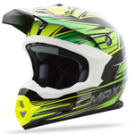 GMAX MX86 Motocross Offroad Helmet Raz (Black/Green/Hi-Vis Yellow)