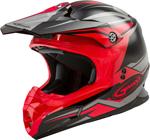 GMAX MX-86 REVOKE MX/Motocross/Off-Road Motorcycle Helmet (Gloss Black/Red)
