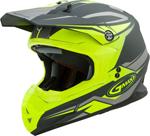 GMAX MX-86 REVOKE MX/Motocross/Off-Road Motorcycle Helmet (Matte Grey/Hi-Viz Yellow)