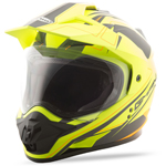 GMAX GM11 Expedition Adventure Touring Motorcycle Helmet (Flat Hi-Vis Yellow/Black)
