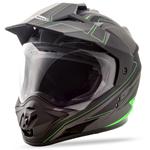 GMAX GM11 Expedition Adventure Touring Motorcycle Helmet (Flat Black/Hi-Vis Green)