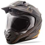 GMAX GM11 Expedition Adventure Touring Motorcycle Helmet (Flat Black/Hi-Vis Orange)