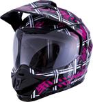 GMAX GM-11 Pink Ribbon Riders Dual-Sport Adventure Touring Helmet (Gloss Black/Pink)