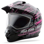 GMAX GM11S Snow Sport Adventure Helmet Pink Ribbon (Black/Pink)
