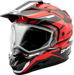 GMAX GM11 Vertical Snow Adventure Touring Helmet (Black/Red)