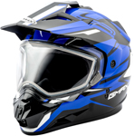 GMAX GM11 Vertical Snow Adventure Touring Helmet (Black/Blue)