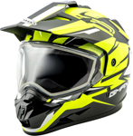 GMAX GM11 Vertical Snow Adventure Touring Helmet (Black/Hi-Vis)